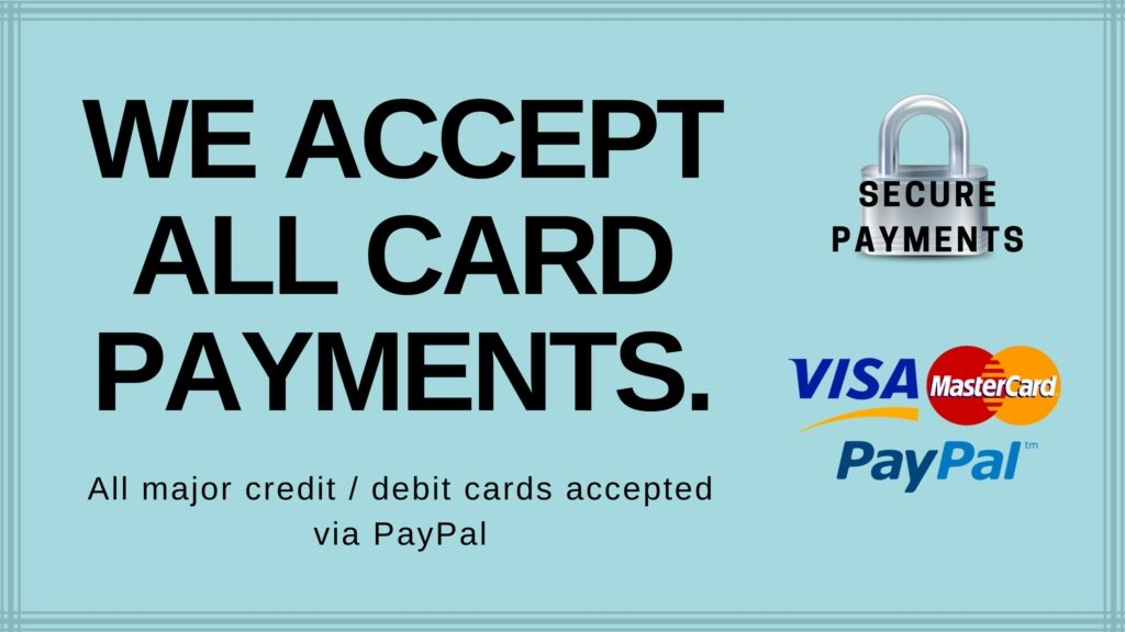 We accept all card payments banner